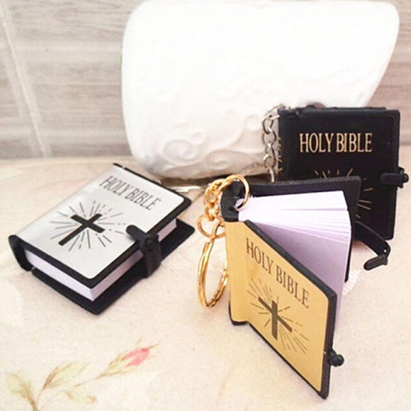 Mini Bible Keychain Gold/Black/Silver