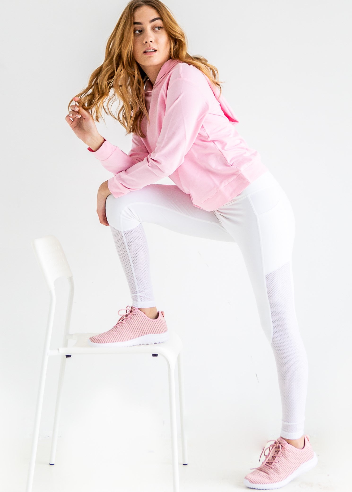 Color My World Hoodie in Girly Pink