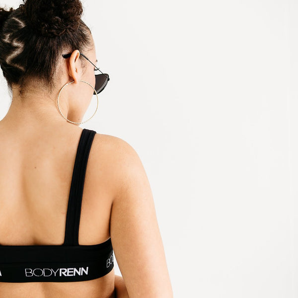 Now & Renn Black Sports Bra
