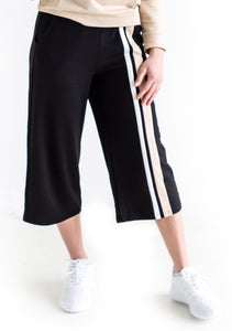 Double Up Cropped Track Pants