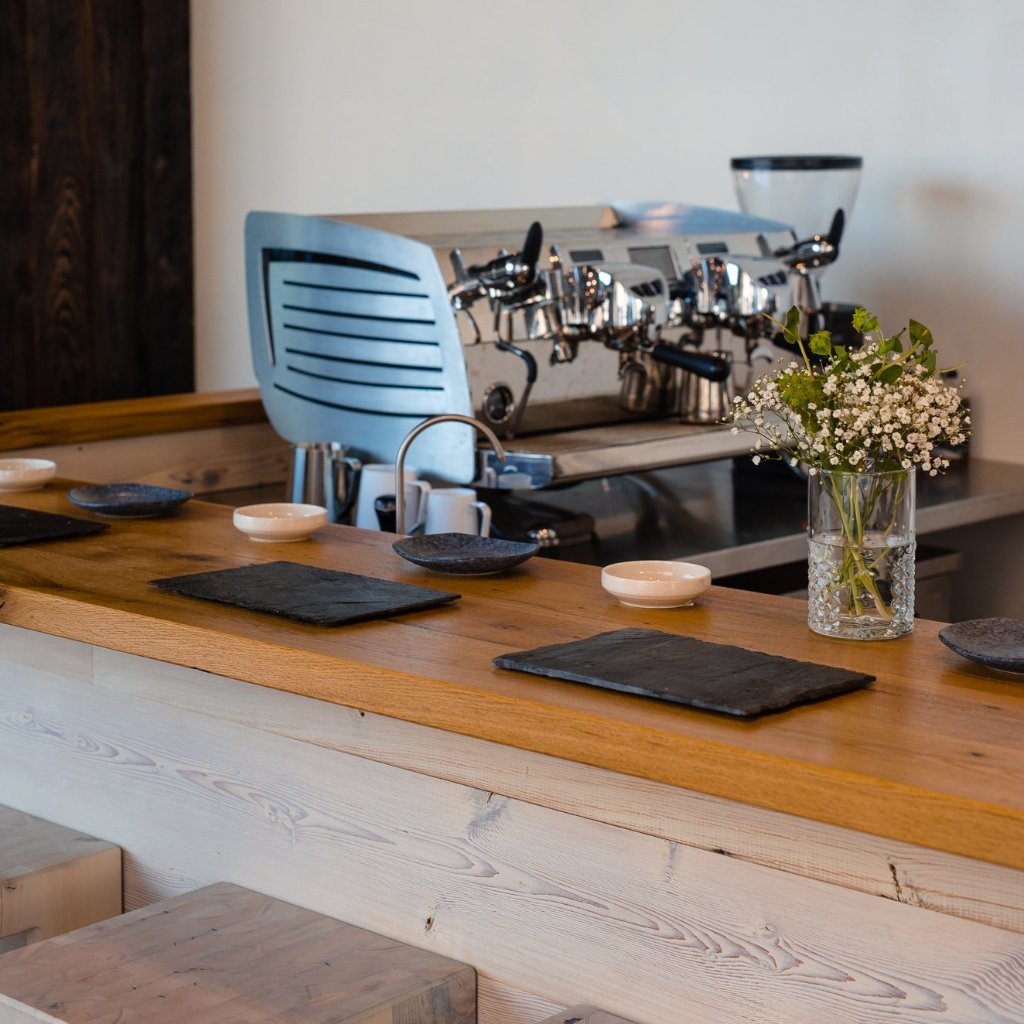 Omakase tasting bar at Elixr Roastery in Philadelphia