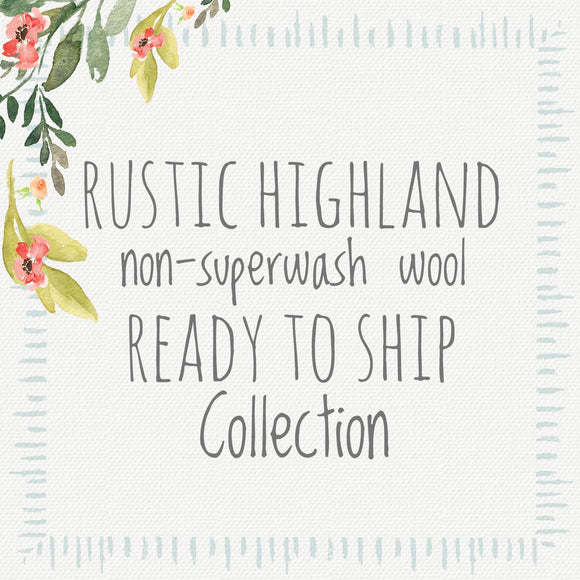 Rustic Non Superwash Highland Wool DK (Ready To Ship Collection)