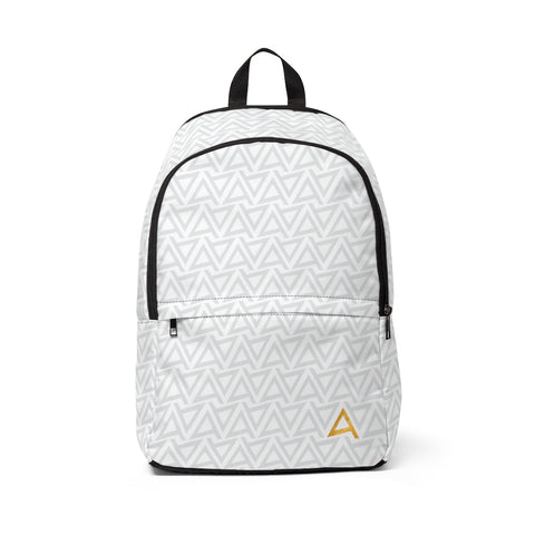 Logo White Backpack