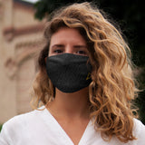 Black Snug-Fit Polyester Face Mask