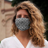 Black and White Snug-Fit Polyester Face Mask