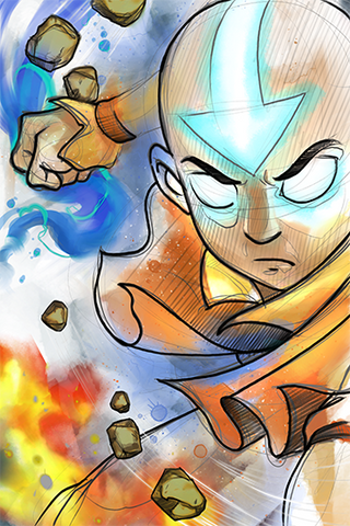 Avatar State Aang Print