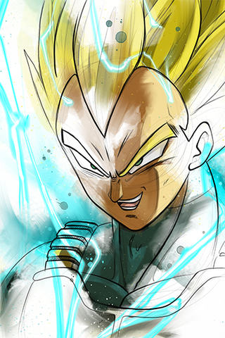 DBZ Super Sayian Vegeta Print