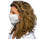 White Snug-Fit Polyester Face Mask