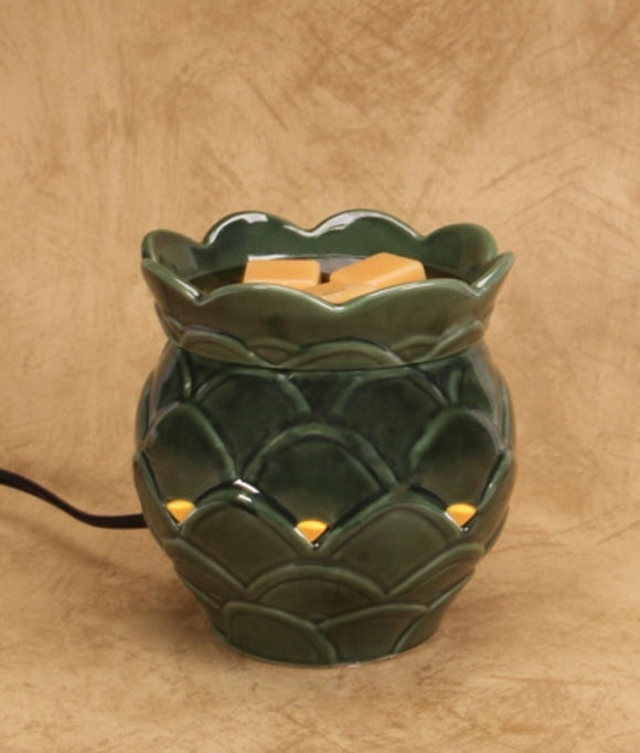 Wax Warmer- Green Artichoke