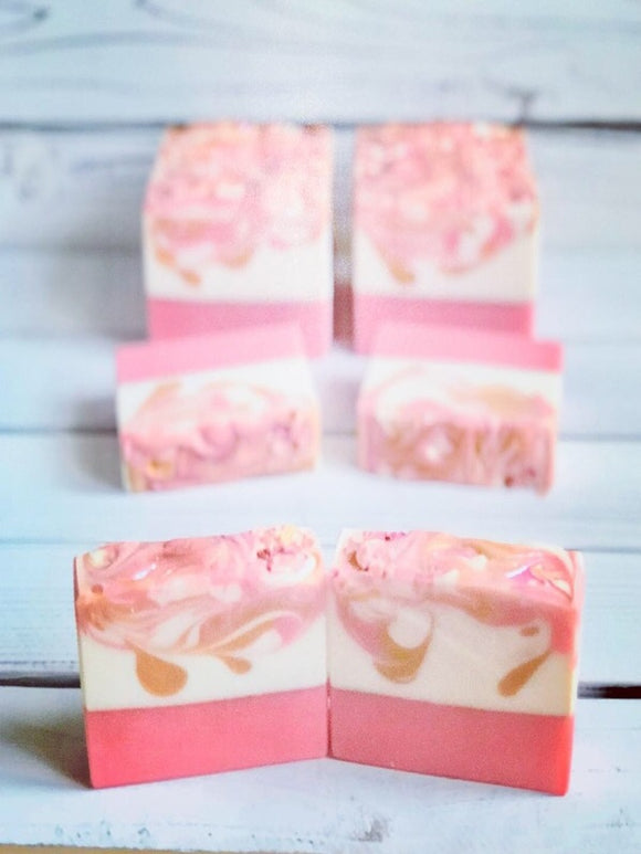 Pink! Coconut Milk Soap