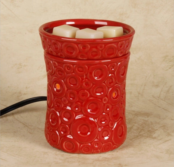 Wax Warmer-Red Circles