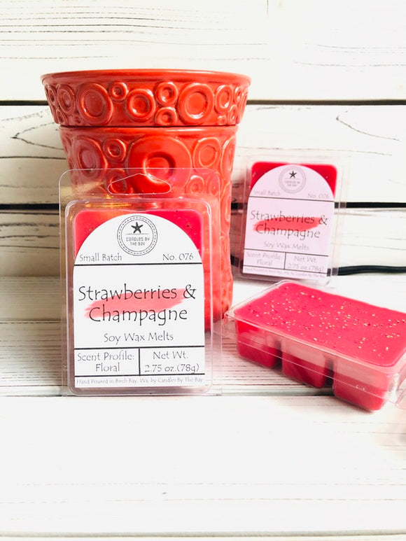Strawberries + Champagne Soy Wax Melts