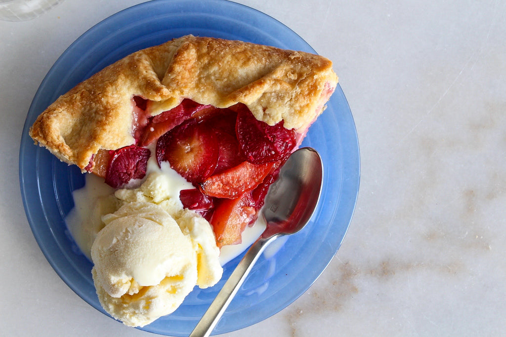 Chai stone fruit galette