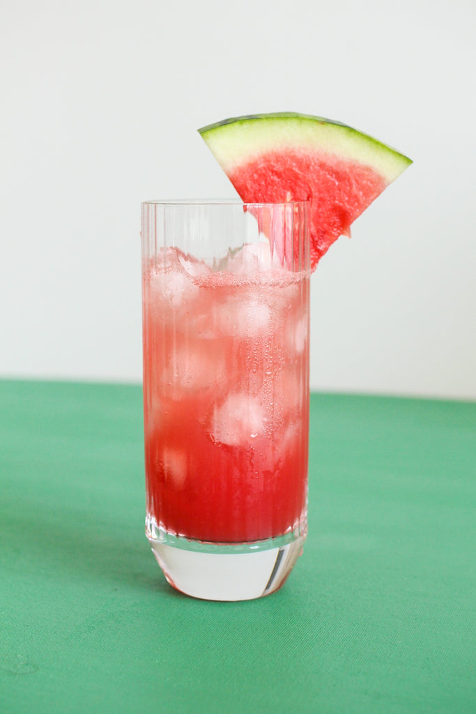 cocktail recipe: pink peppercorn watermelon cooler