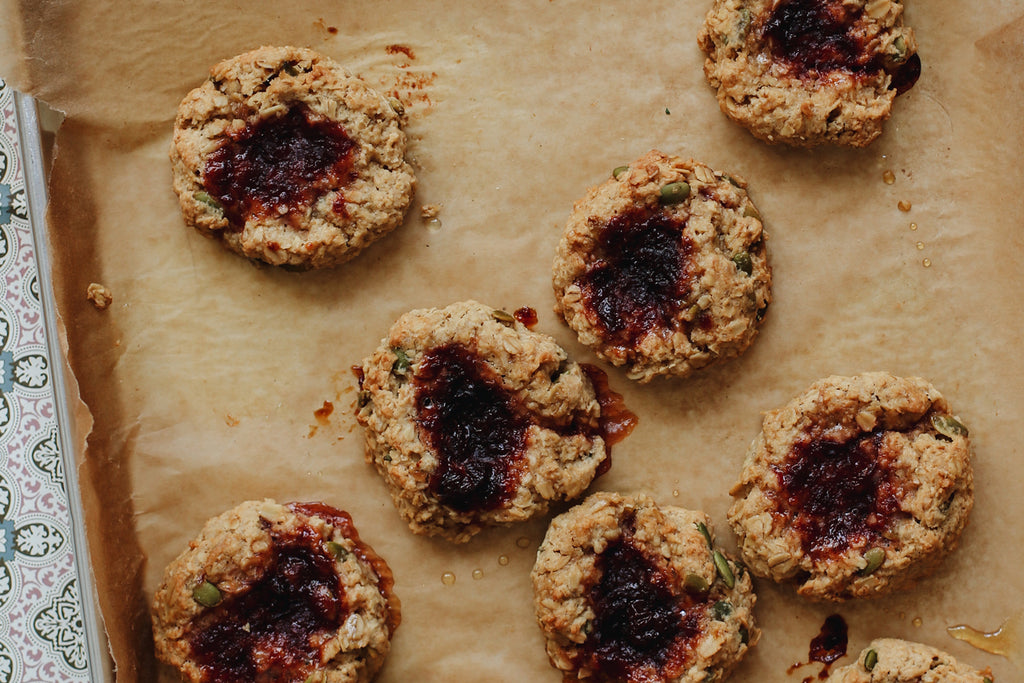 Cherry Chai Thumbprint Cookies