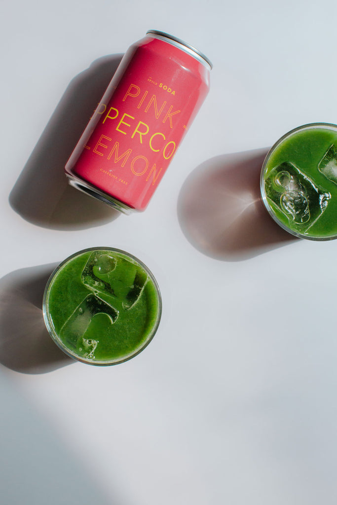 The Pomme Fairy: matcha, pineapple & pink peppercorn fizz