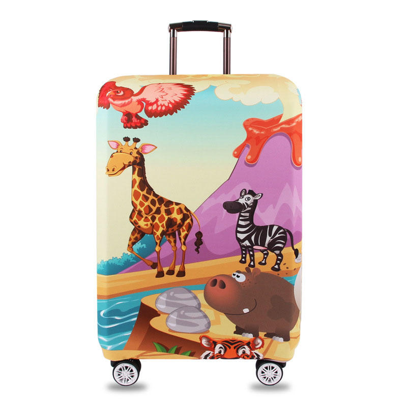 Tourism Theme Elastic Luggage Cover