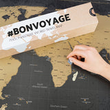 Personalized Scratchable Travel World Map