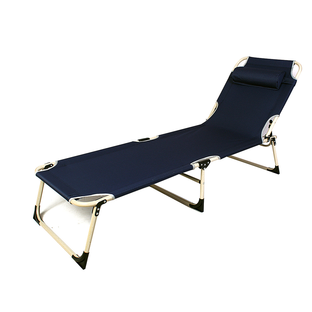 Recliner Beach Chair With Pillow (Fold-Flat)