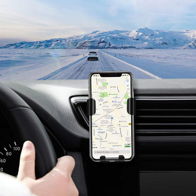 10W QI Wireless Fast Charger Car Mount Holder Stand - Groupy Buy