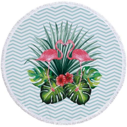 Big Clearance Thick Microfiber Flamingo Themed Round Beach Towel - Six Styles Available - Groupy Buy