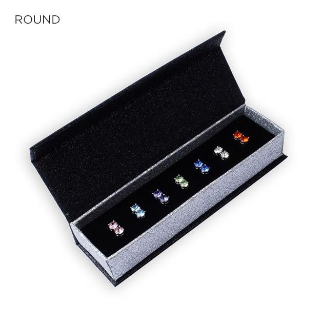 7 Pair Set of Swarovski Crystal Earrings (Round or Square) - Groupy Buy