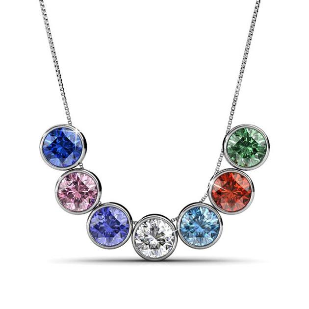 7-Day Pendant Necklace Set with Genuine Swarovski Crystals - Groupy Buy