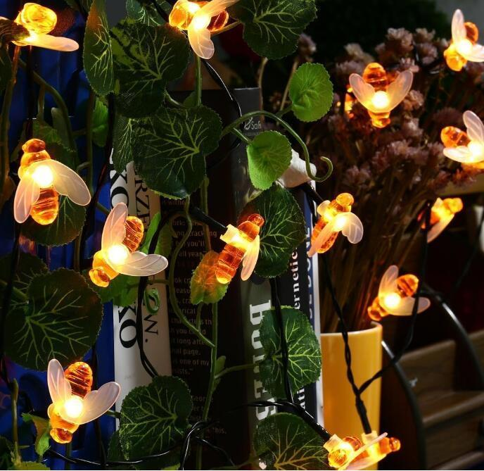 20led Solar Powered Honey Bee  Garden Lights - Groupy Buy