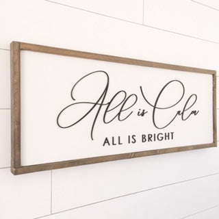 All is Calm, all is Bright 12x35