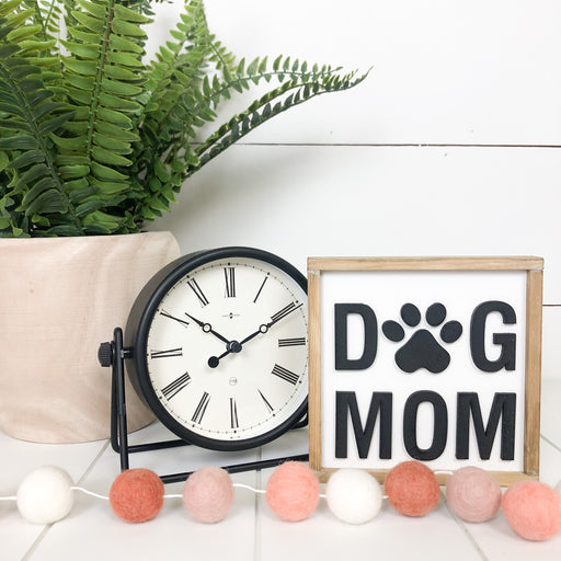 Dog Mom | 5x5 inch Wood Framed Sign