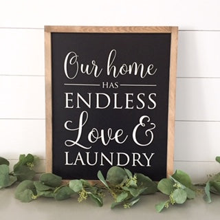 Endless love and laundry 17x21