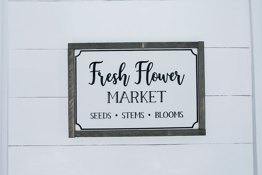 Fresh Flower Market 11x15""