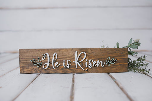 He is Risen | 3.5x15 inch Wood Sign