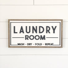 Laundry Room wood sign- 3d lettering-home decor wall art- laser cut sign- wood cutout sign