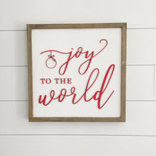 "Joy to the World Christmas 3D Sign- 16x16""- Christmas decor- home decor- famly sign wood- laser cut sign- wood framed farmhouse sign"