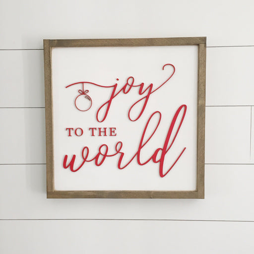 Joy to the World Christmas 3D Sign- 16x16""