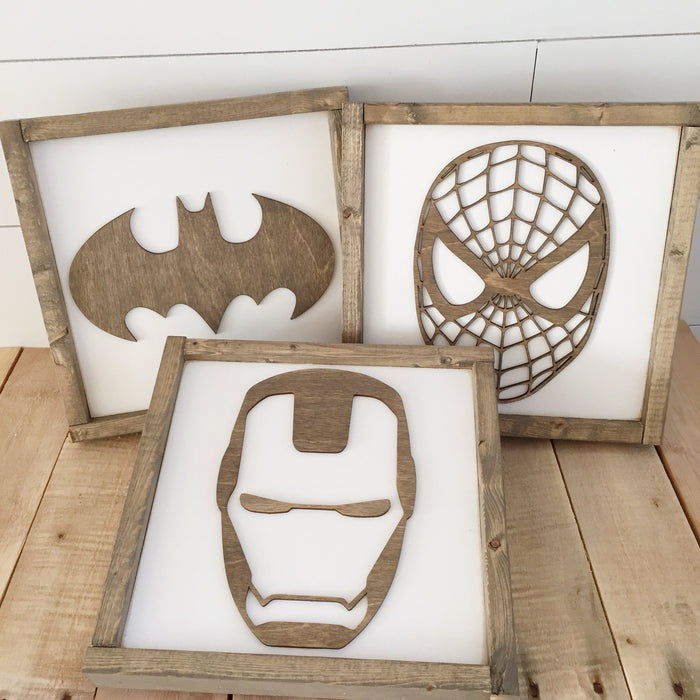 Superhero Wall Art 11""