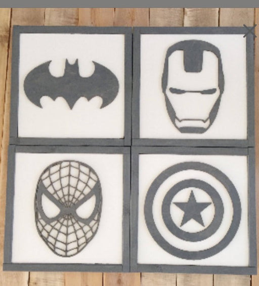 Superhero Wall Art | 21x21 inch Wood Sign