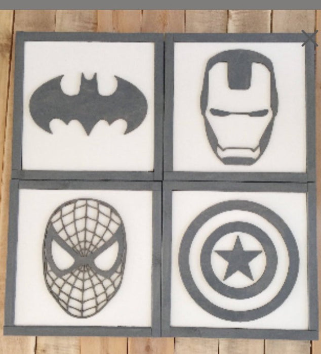 Superhero Wall Art 16""