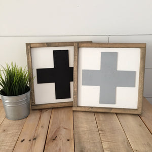 Swiss Cross- 3D wood sign- family sign- living room wall art- bedroom decor- Custom sign- home decor wall art