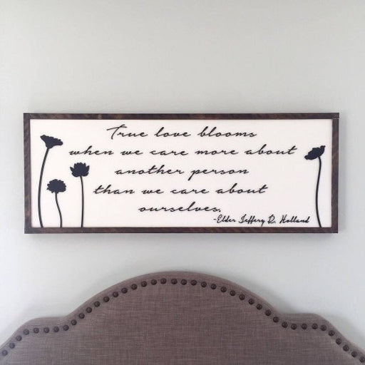 True Love Blooms 3D sign