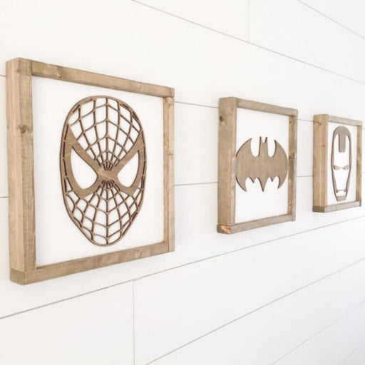 Superhero Wall Art | 14x14 inch Wood Sign