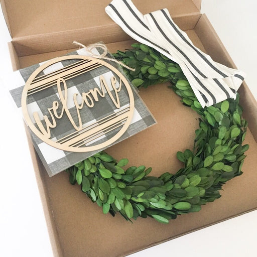 Preserved Boxwood Wreath Kit
