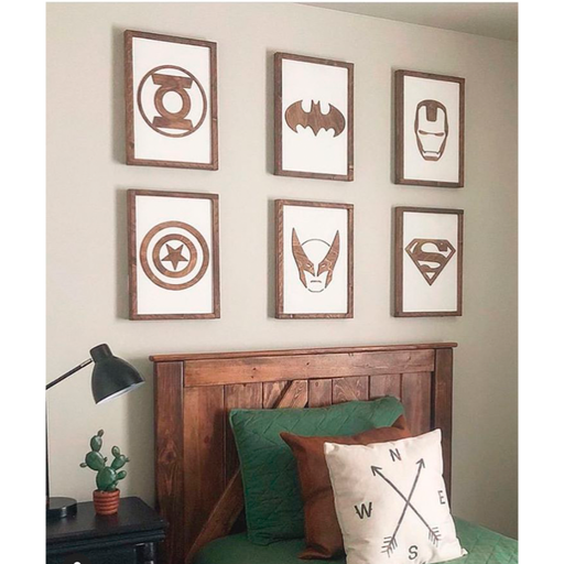 Superhero Wall Art 11x16""