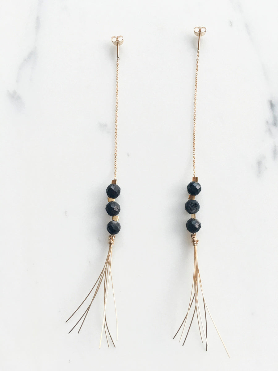 stak fringe earrings