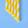 "Yellow Stripe Paper Straws (7.75"")"
