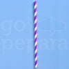 "Purple Stripe Paper Straws (7.75"")"