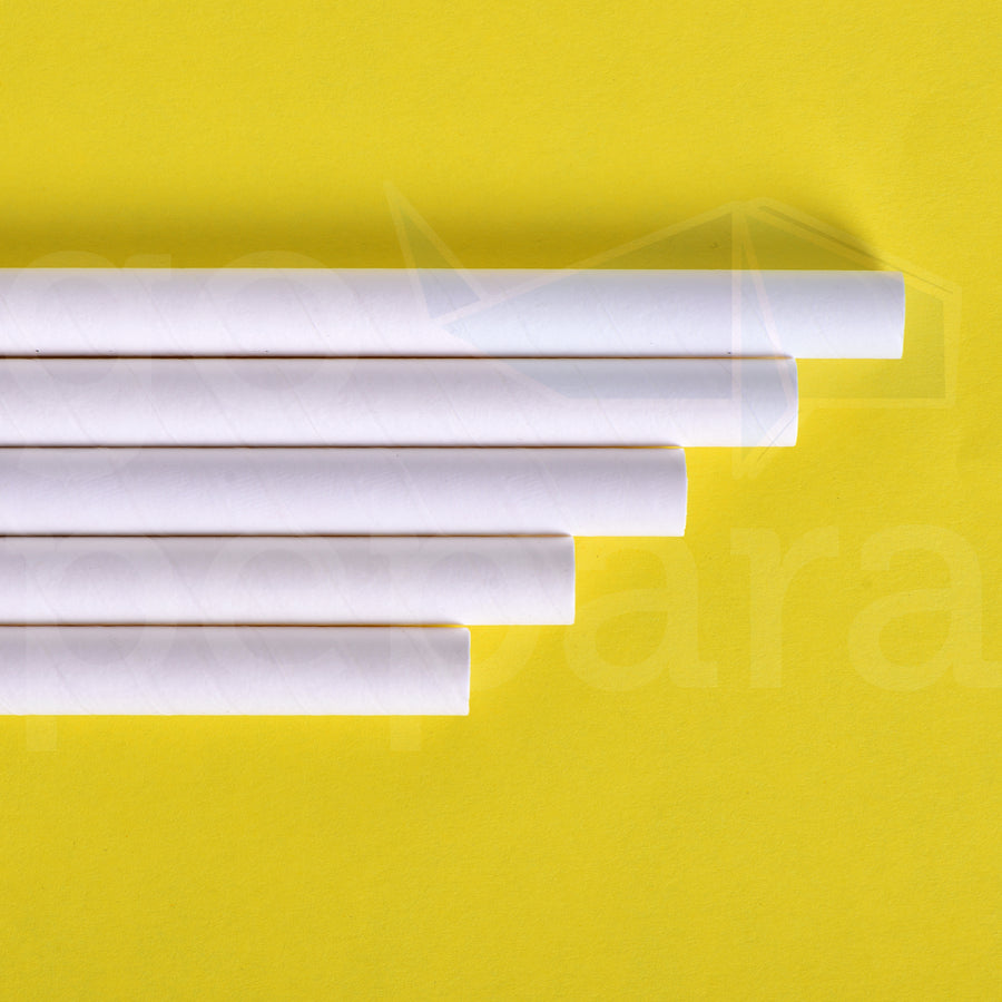 "Colossal White Paper Straws (8.5"")"