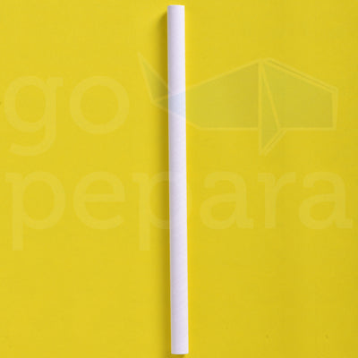 "Giant White Paper Straws (7.75"")"