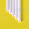 "Bar Stir White Paper Straws (5.75"")"